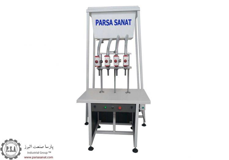 دستگاه پرکن مایعات ثقلی نیمه اتوماتیک